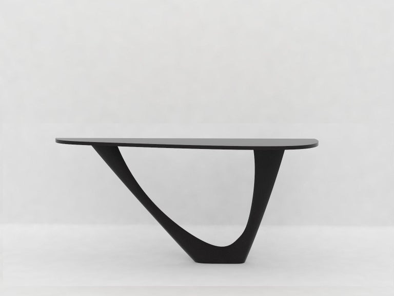 G-Console Mono Table in Powder-Coated Steel with Concrete Top by Zieta For Sale 12