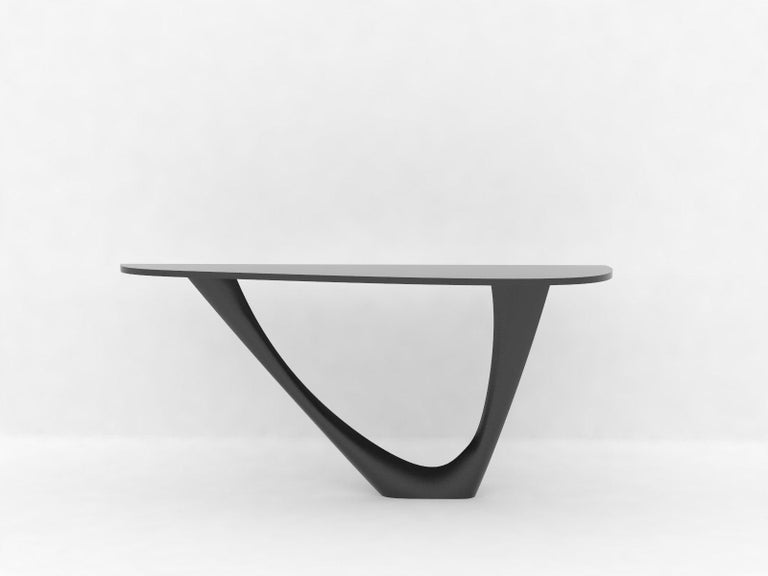 G-Console Mono Table in Powder-Coated Steel with Concrete Top by Zieta In Excellent Condition For Sale In New York, NY