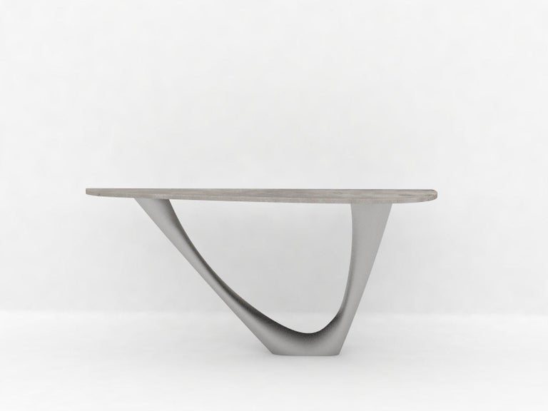 G-Console Mono Table in Powder-Coated Steel with Concrete Top by Zieta For Sale 1