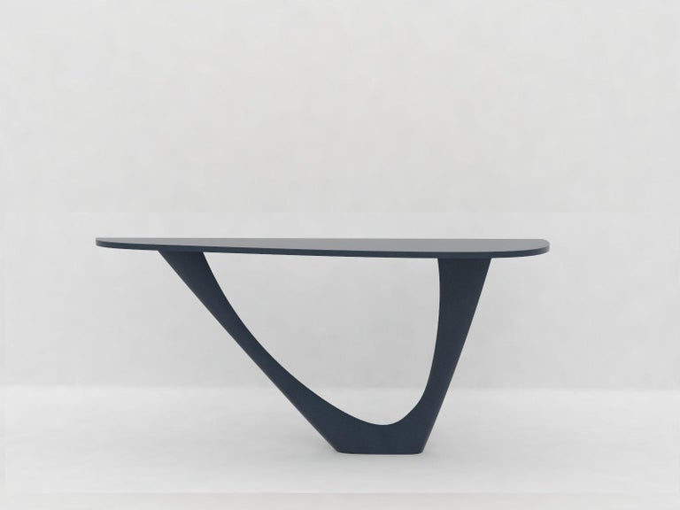 G-Console Mono Table in Powder-Coated Steel with Concrete Top by Zieta For Sale 3