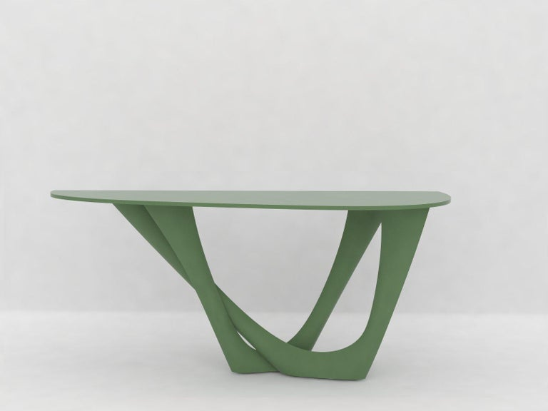 G-Console Table Duo in Powder-Coated Steel with Concrete Top by Zieta For Sale 4
