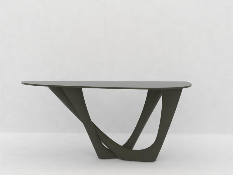 G-Console Table Duo in Powder-Coated Steel with Concrete Top by Zieta For Sale 5