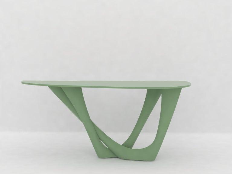 G-Console Table Duo in Powder-Coated Steel with Concrete Top by Zieta For Sale 6