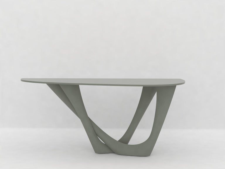 G-Console Table Duo in Powder-Coated Steel with Concrete Top by Zieta For Sale 7