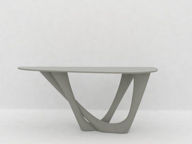 G-Console Table Duo in Powder-Coated Steel with Concrete Top by Zieta For Sale 8