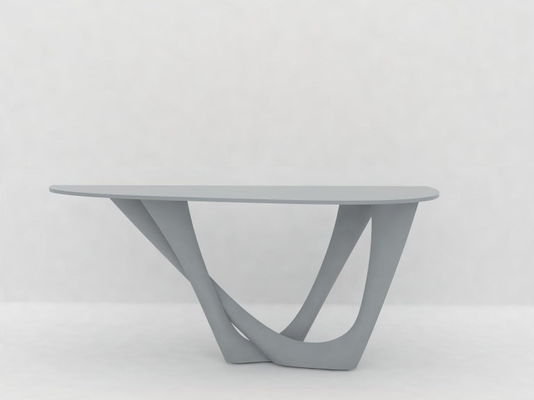 G-Console Table Duo in Powder-Coated Steel with Concrete Top by Zieta For Sale 9