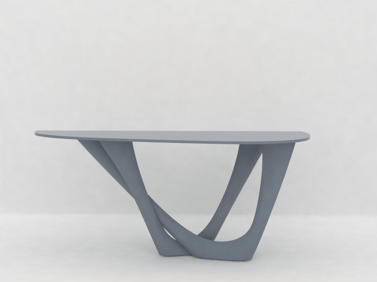 G-Console Table Duo in Powder-Coated Steel with Concrete Top by Zieta For Sale 10