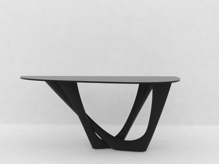 G-Console Table Duo in Powder-Coated Steel with Concrete Top by Zieta For Sale 11