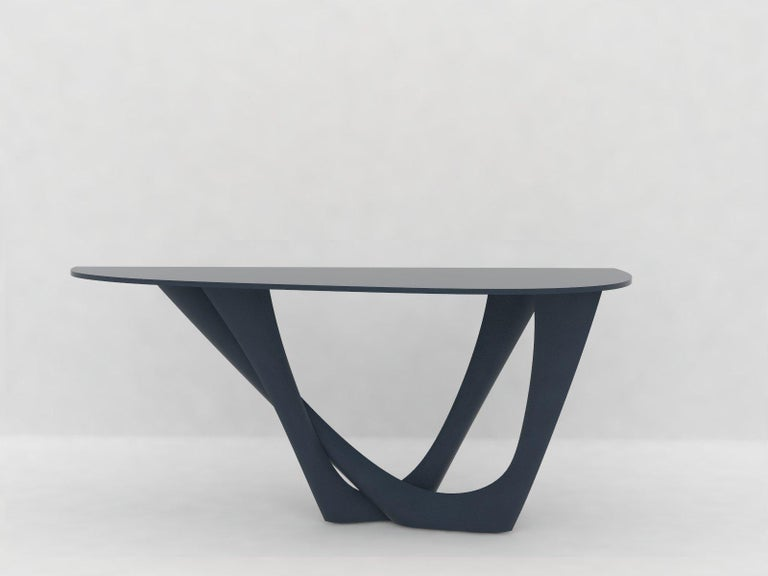 G-Console Table Duo in Powder-Coated Steel with Concrete Top by Zieta For Sale 2
