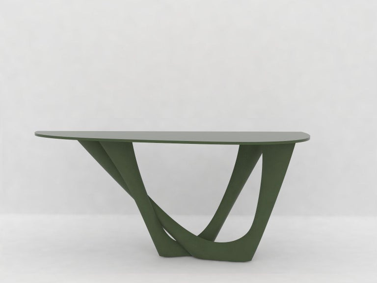 G-Console Table Duo in Powder-Coated Steel with Concrete Top by Zieta For Sale 3