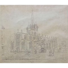 G Cooper, 'St Mary's Church, Oxford'  (c.1820) etching on paper