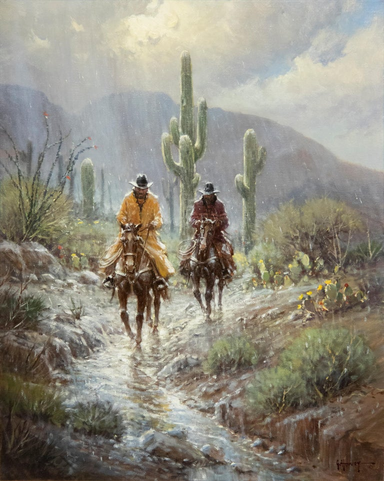 G. Harvey Animal Painting - A Cowboy's Blessing