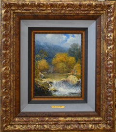 """Cimarron"" Fall Study   Texas Hill Country   From the G. Harvey Estate"