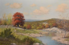 """Red Oak""  Texas Hill Country River Scene."