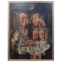 G P Diaz Oil on Board 'the First Brothers'