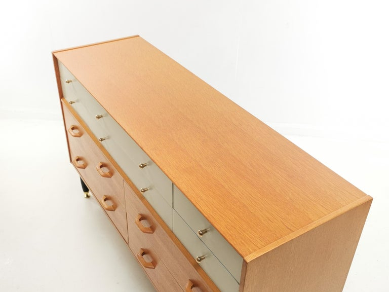 20th Century G Plan China White Oak Sideboard Chest of Drawers Midcentury