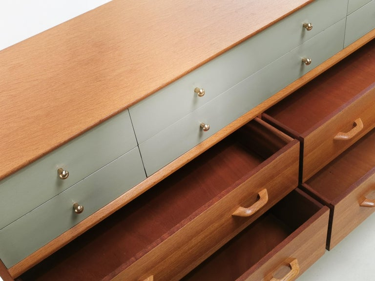 G Plan China White Oak Sideboard Chest of Drawers Midcentury 1