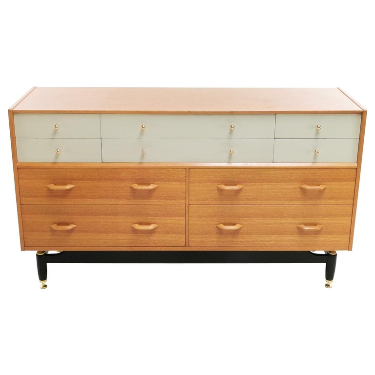 G Plan China White Oak Sideboard Chest of Drawers Midcentury