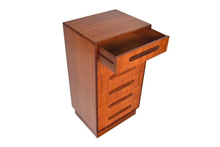 Mid-Century Modern G Plan Fresco Teak Lingerie Highboy Dresser #1