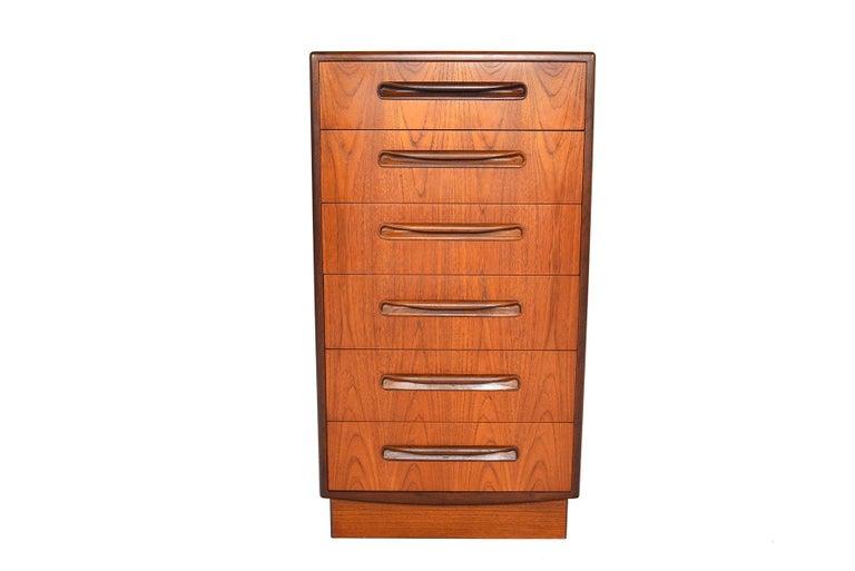 G Plan Fresco Teak Lingerie Highboy Dresser #1 In Good Condition In Berkeley, CA