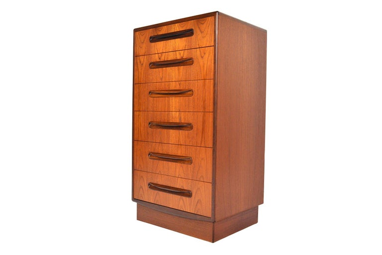20th Century G Plan Fresco Teak Lingerie Highboy Dresser #1