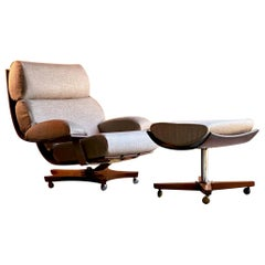 G Plan Housemaster Chair and Footstool in Teak by K M Wilkins, circa 1970s