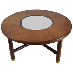 G-Plan Midcentury Round Teak and Glass Coffee Table