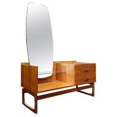 G Plan 'quadrille' Teak Hallway Chest with Mirror