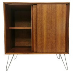 G Plan Teak Record Cabinet Midcentury Vintage Retro and Hairpin Legs
