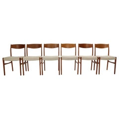 G. S. Glyngore Stolefabrik Set of 6 Teak Dinning Room Chairs, 1960s Denmark