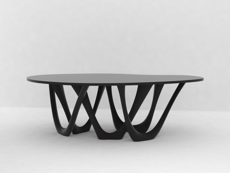 G-Table B+C in Brushed Aluminum with Concrete Top by Zieta For Sale 4