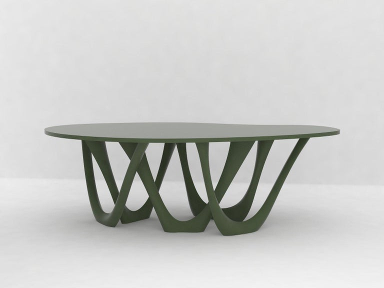 Polish G-Table B+C in Powder-Coated Steel with Concrete Top by Zieta For Sale