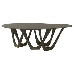 G-Table by Zieta, Powder-Coated Top and Base 'Umbra Grey'
