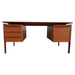 G. V. Gasvig Teak Danish Modern Executive Desk