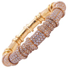 G. Verdi for Cellini 18 Karat Rose Gold and 5.54 Carat Diamond Bracelet