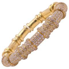 G. Verdi for Cellini 18 Karat Rose Gold and 5.54 Carat Diamond Bracelet