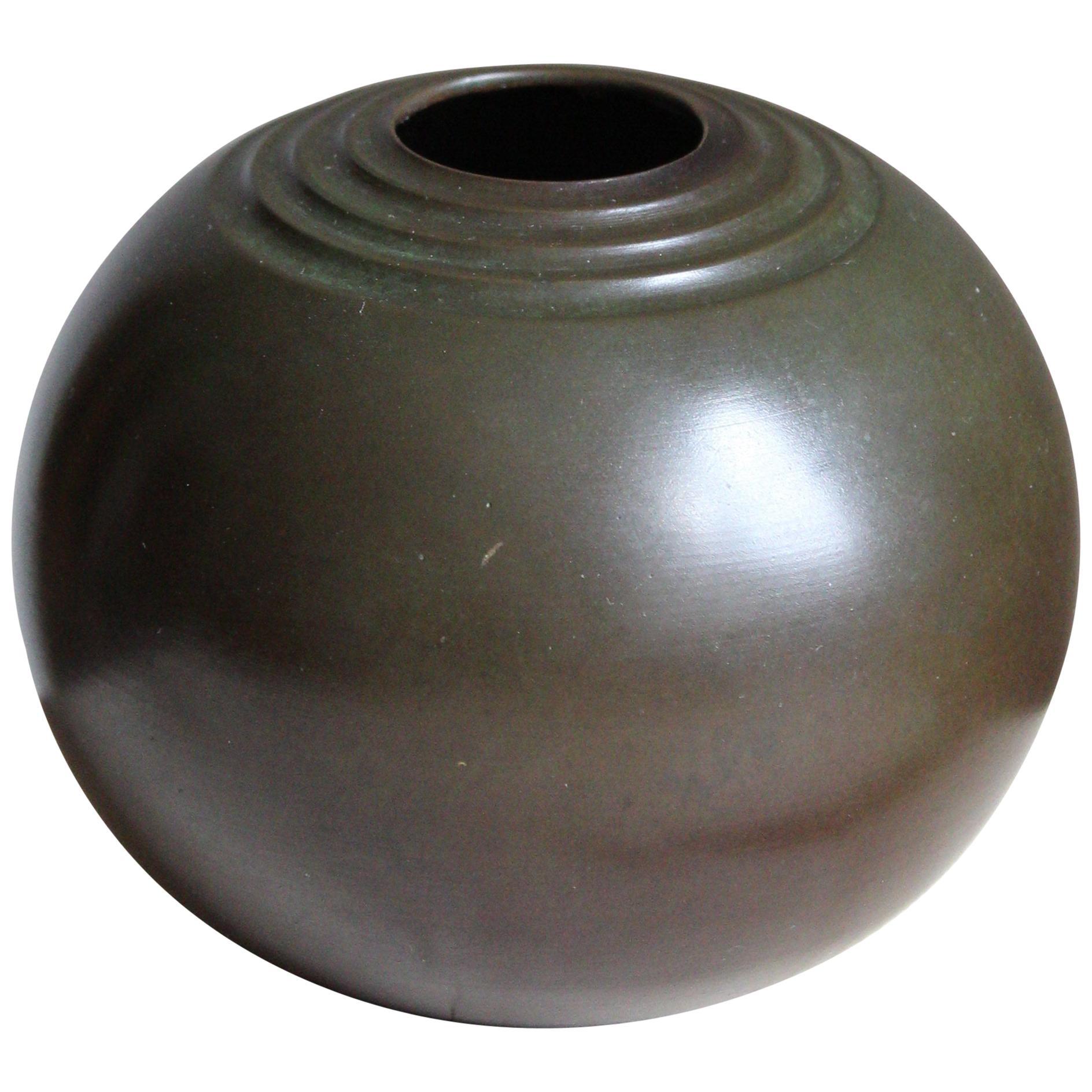 GAB Guldsmedsaktiebolaget, Small Vase, Bronze, Sweden, 1930s