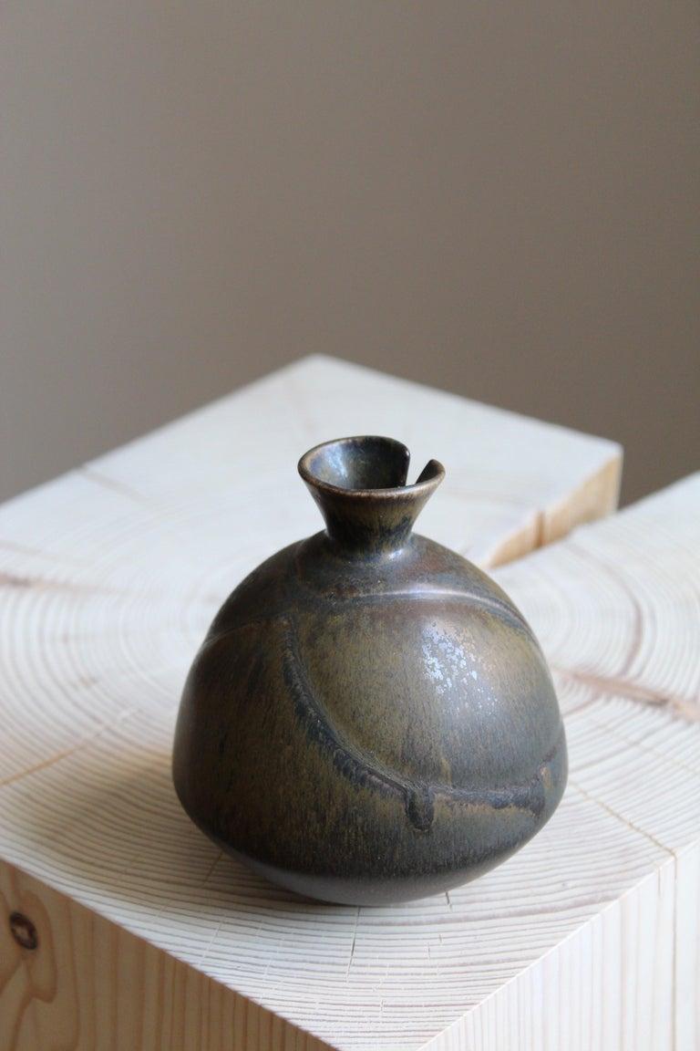 Mid-Century Modern Gabi Citron Tengborg, Vase, Glazed Stoneware, Gustavsberg, 1960s For Sale