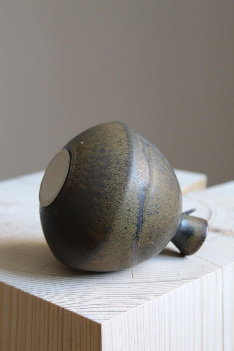 Gabi Citron Tengborg, Vase, Glazed Stoneware, Gustavsberg, 1960s In Good Condition For Sale In West Palm Beach, FL