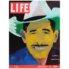 'Gable's End' Portrait Painting Clarke Gable by Alan Fears Pop Art