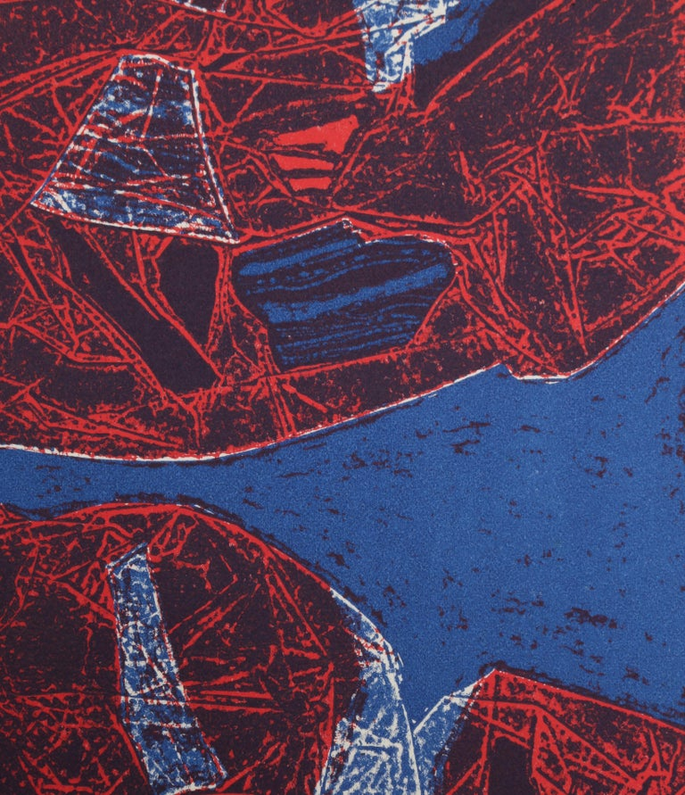 Mauna Loa II, Abstract Etching by Gabor Peterdi - Print by Gabor F. Peterdi