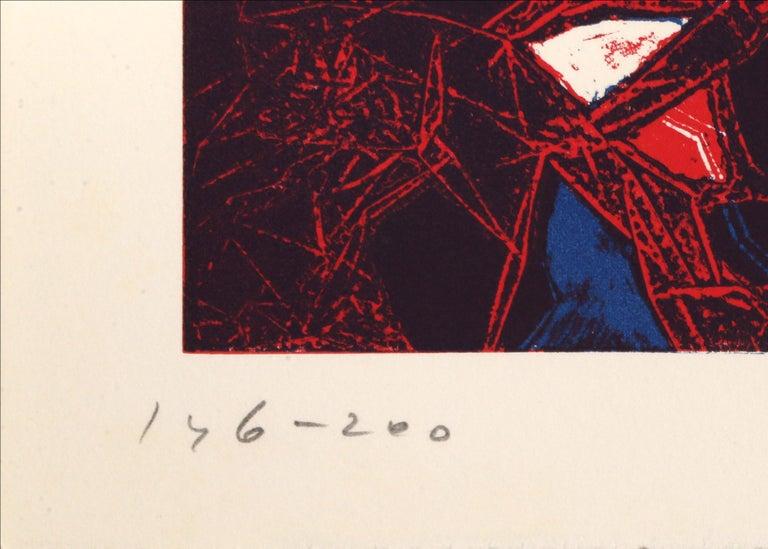 Mauna Loa II, Abstract Etching by Gabor Peterdi - Abstract Expressionist Print by Gabor F. Peterdi