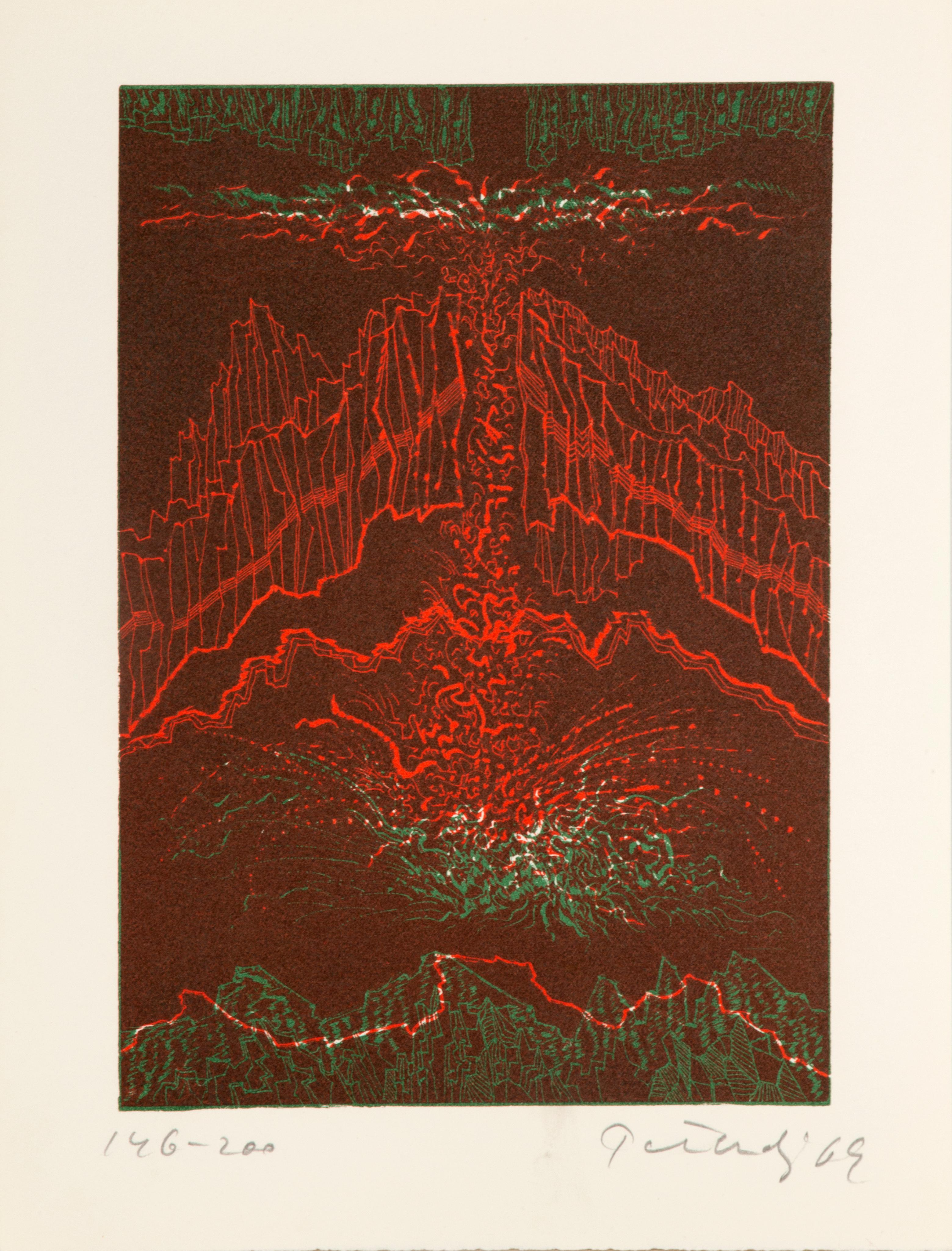 Hawaii, Abstract Etching by Gabor Peterdi