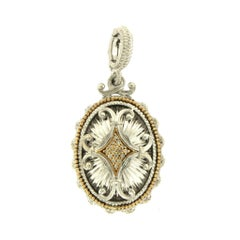 Gabriel & Co. 18k Yellow Gold 925 Sterling Silver with Diamond Pendant Charm
