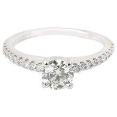 Gabriel & Co. Diamond Engagement Ring in 14 Karat White Gold L SI1 0.8 Carat