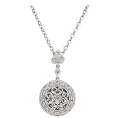 Gabriel & Co. Diamond Medallion Pendant Necklace