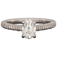 Gabriel & Co. White Gold 1.52 Carat Oval Diamond Solitaire Engagement Ring