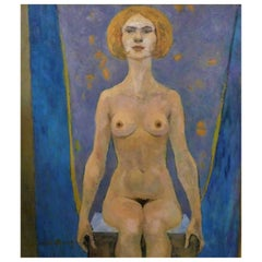 Gabriel de Beney Nude Oil on Canvas Painting