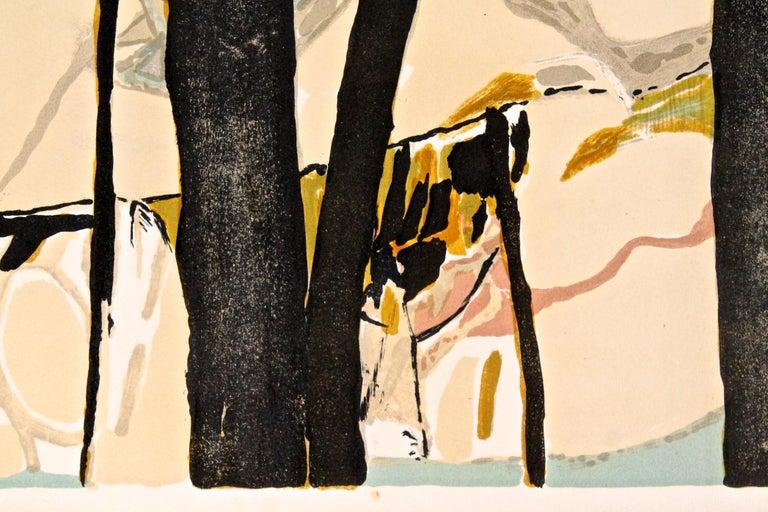 Mid-Century Modern Gabriel Godard Original Lithograph For Sale