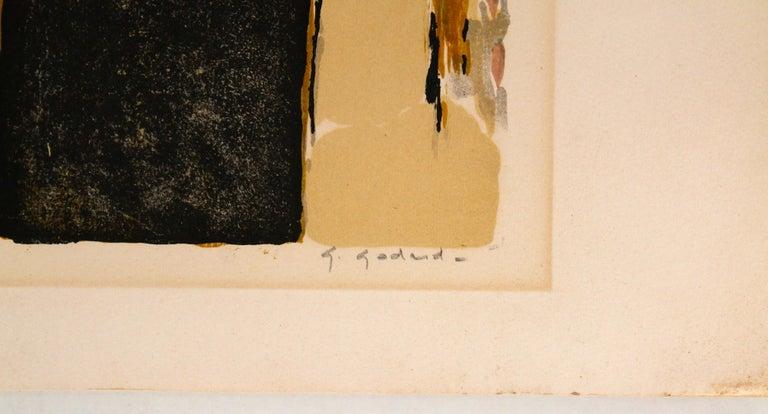 Hand-Crafted Gabriel Godard Original Lithograph For Sale